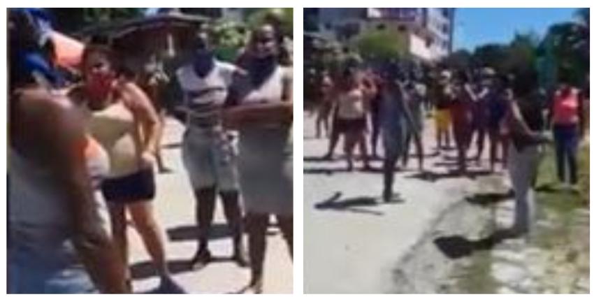 """Cubanas en Arroyo Naranjo exigen salir del aislamiento: """"Nos estamos muriendo de hambre aquí, y no traen nada"""""""