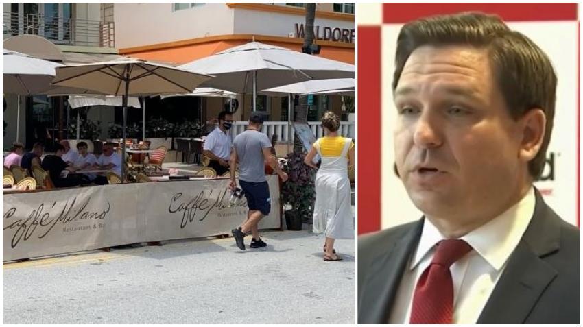 Gobernador de Florida busca prohibir que los gobiernos locales puedan cerrar los restaurantes y bares