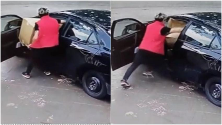 Grabado en cámara un hombre que roba paquetes de un portal en condominio de Miami Lakes