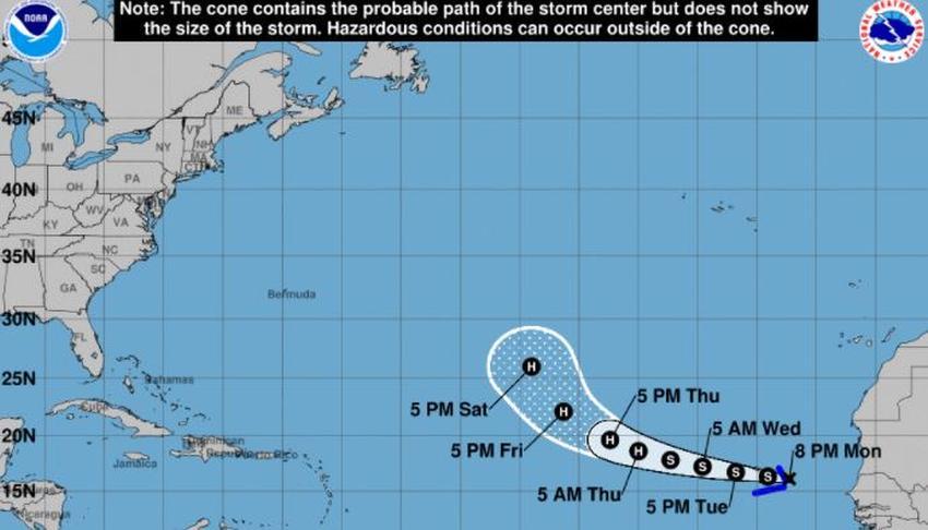 Depresión Tropical 18 se convierte en la tormenta René