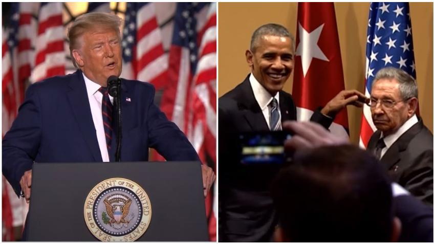 """Donald Trump: """"La administración de Obama y Biden traicionó a los cubanos"""""""