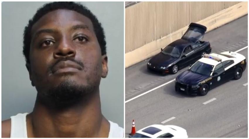 Arrestado un hombre en el Palmetto Expressway por disparar contra otro conductor delante de un policía