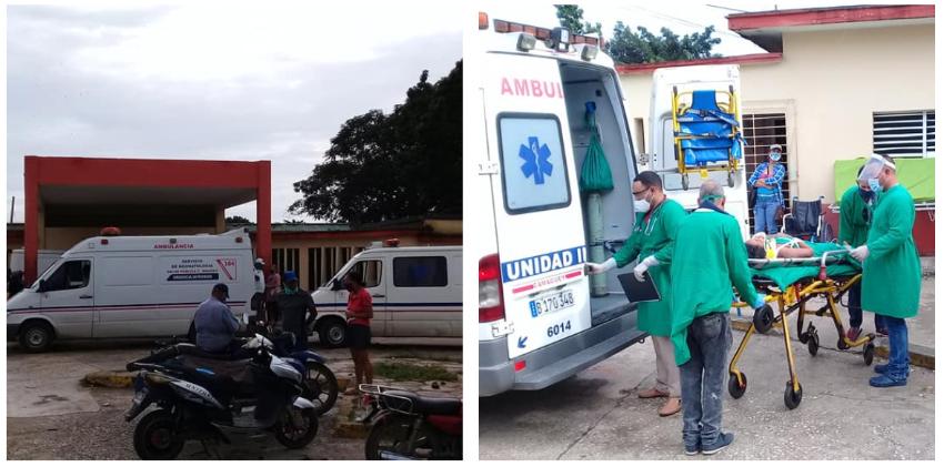 Cuatro personas graves y once lesionados por un accidente masivo en Camagüey