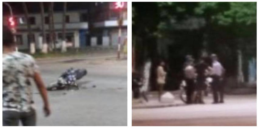 Camión de la basura impactó a una moto en 100 y 51, La Habana, y el conductor se dio a la fuga