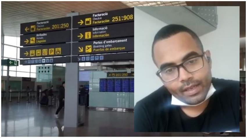 Cubano pide asilo en el Aeropuerto de Barcelona huyendo de la dictadura