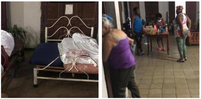 Albergadas en pésimas condiciones cinco familias habaneras por un derrumbe parcial en el inmueble en el que vivían