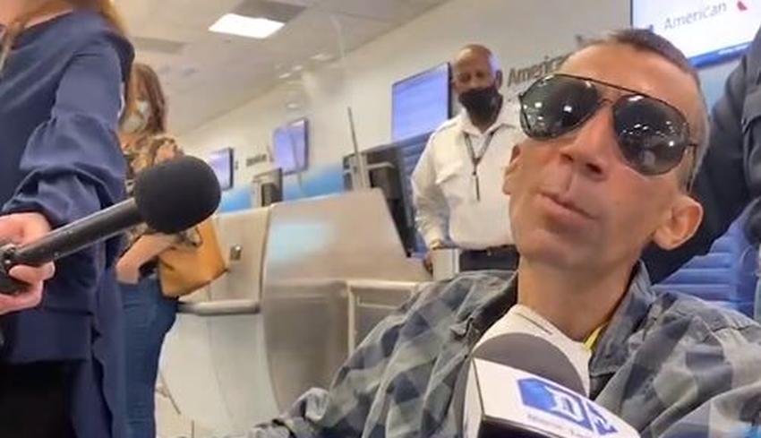Opositor cubano enfermo de cáncer que estaba varado en México llega a Miami para recibir tratamiento