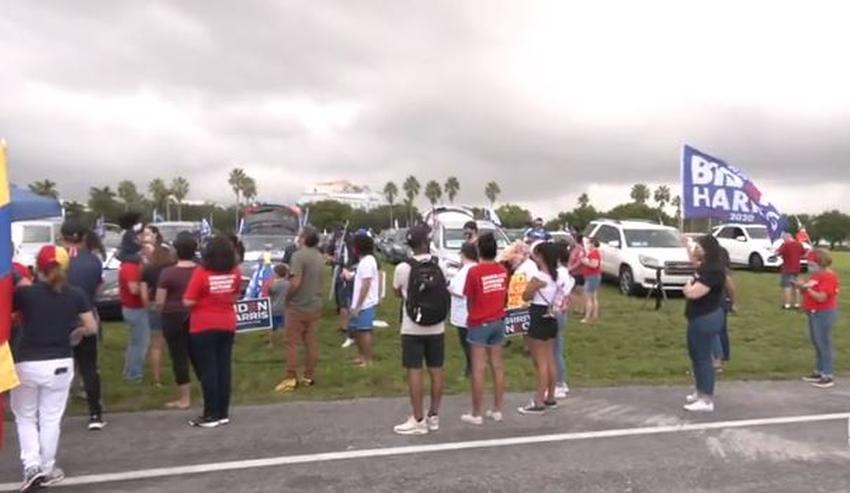 Grupo Venezolanos por Biden realiza caravana en el Doral en apoyo al candidato demócrata