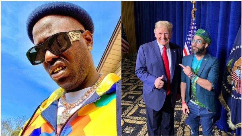 Reguetonero cubano Chocolate MC dice que devolverá el dinero de los pasajes después de ver a Otaola junto a Trump