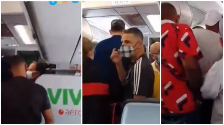 Cubanos de Miami que viajaban a Cuba vía Cancún forman un caos en el vuelo por problemas con el equipaje