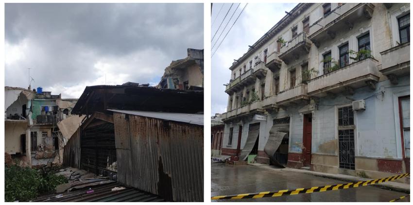 Otro derrumbe conmociona a Centro Habana, vecinos de más de veinte viviendas en la calle