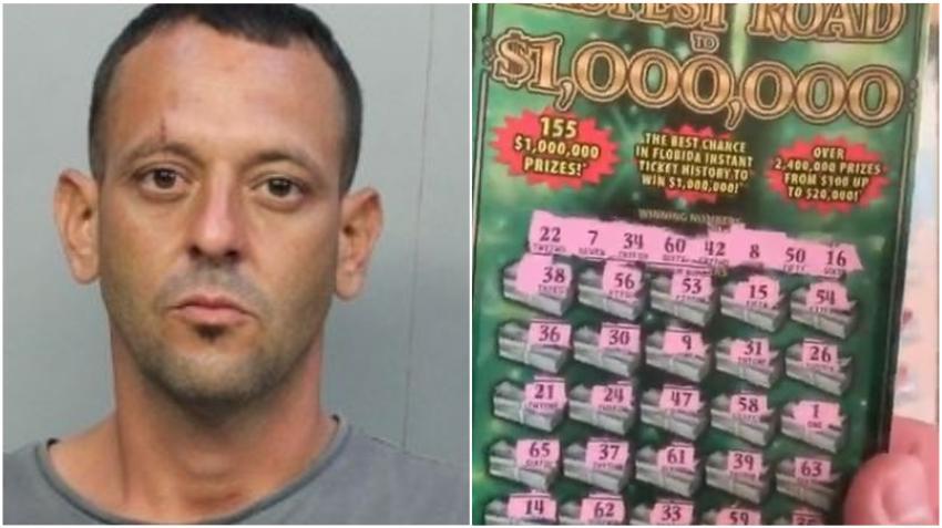Arrestado un hombre por robar 60 raspaditos de la Lotería en un supermercado de Hialeah
