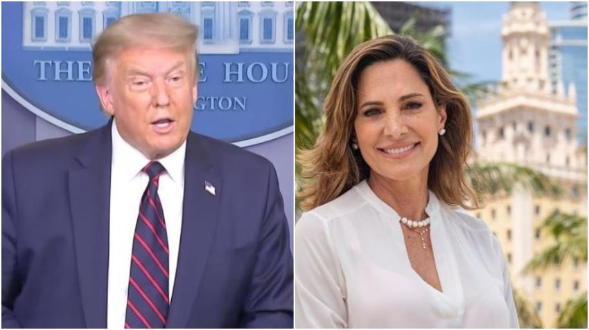 Donald Trump da su apoyo a Maria Elvira Salazar para el congreso por el distrito 27
