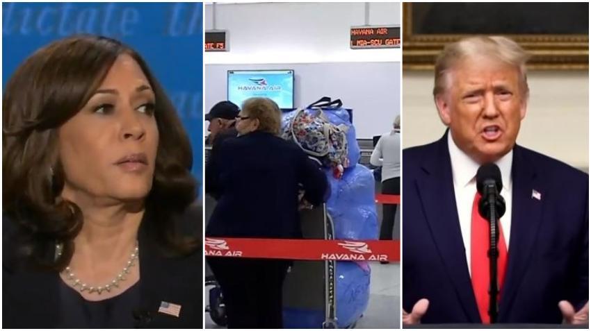 Kamala Harris acusa a Trump de separar las familias cubanas; promete revertir las sanciones a Cuba