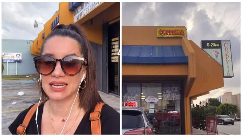 Actriz cubana Laura Treto decepcionada tras su visita a la heladería Coppelia de Miami