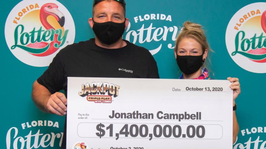 Hombre de Florida gana 1.4 millones de dólares en lotería