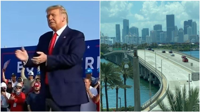 Anuncian cierre total de MacArthur Causeway por la llegada del presidente Trump a Miami