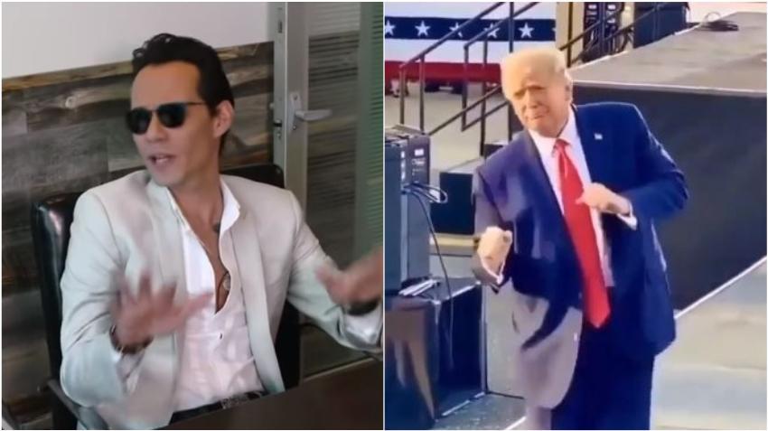 Críticas a Marc Anthony tras su comentario al baile de Donald Trump en un acto de campaña