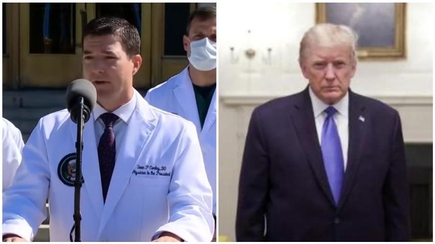 """Médico de Donald Trump asegura que el presidente se encuentra """"Muy Bien"""" y sin fiebre"""