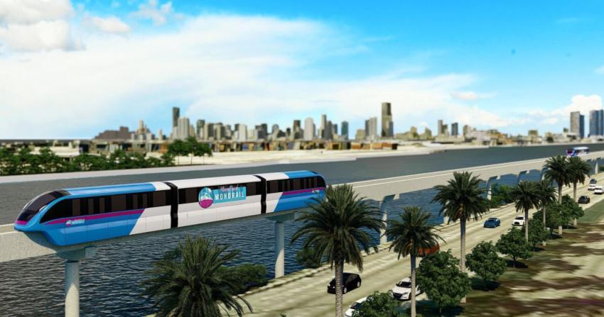 Aprueban continuar con el proyecto del monorriel del Downtown de Miami a Miami Beach
