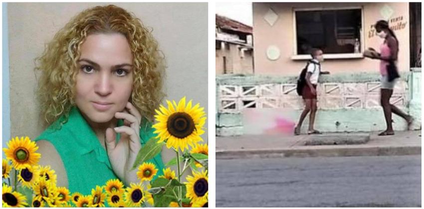 Opositora cubana denuncia campaña del régimen en su contra, por sacar a la luz el caso del niño que iba a la escuela sin zapatos