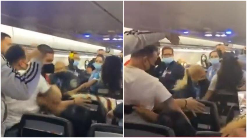 Pelea tumultuaria en un avión de Spirit Airlines tras una discusión por la mascarilla
