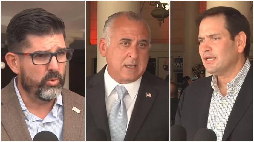 Marco Rubio y Manny Díaz apoyan candidatura de Esteban Bovo a la alcaldía de Miami Dade