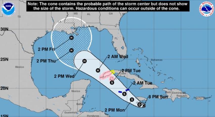 Emiten vigilancia de huracán para el occidente de Cuba debido a disturbio en el Caribe