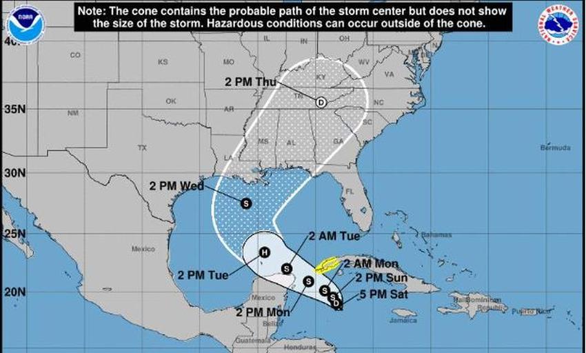 Se forma cerca de Cuba la depresión tropical 28, la cual se convertirá en la tormenta Zeta