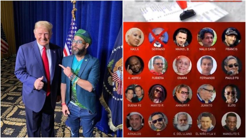 Trump se compromete a revisar la lista de artistas y personalidades cubanas que tienen visa para venir a Estados Unidos y son afines a la dictadura en Cuba