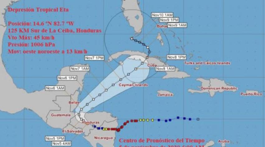 Provincias desde Pinar del Río hasta Ciego de Ávila en Fase Informativa por depresión tropical, Isla de la Juventud también está incluida