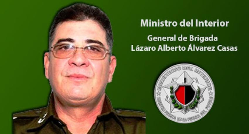 El general cubano Lázaro Alberto Álvarez Casas ocupará el cargo de ministro del Interior