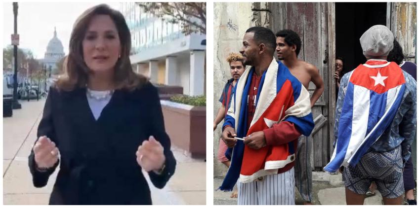 """María Elvira Salazar: """"Mi solidaridad total y absoluta con los valientes luchadores del Movimiento San Isidro en Cuba"""""""