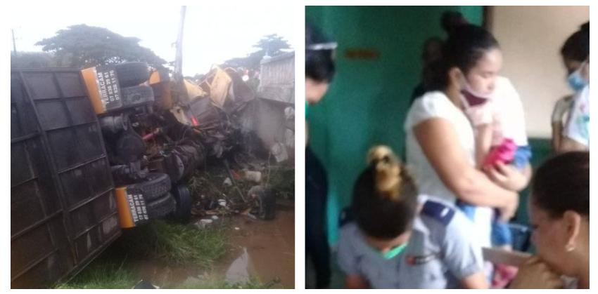 Un bebé y otros tres menores entre los lesionados por un accidente en la Carretera Central a la altura de Camagüey
