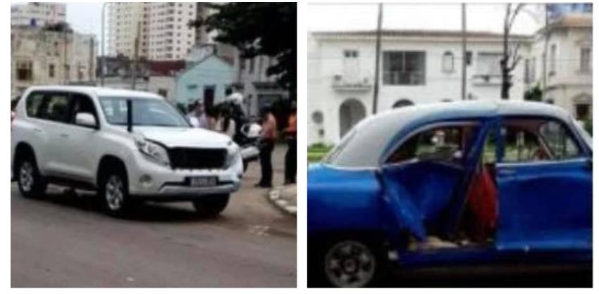 Accidente que involucró un auto diplomático en La Habana, deja a una persona en estado crítico