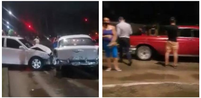 Una guagua y cinco autos involucrados en un accidente en Vento y 100, La Habana