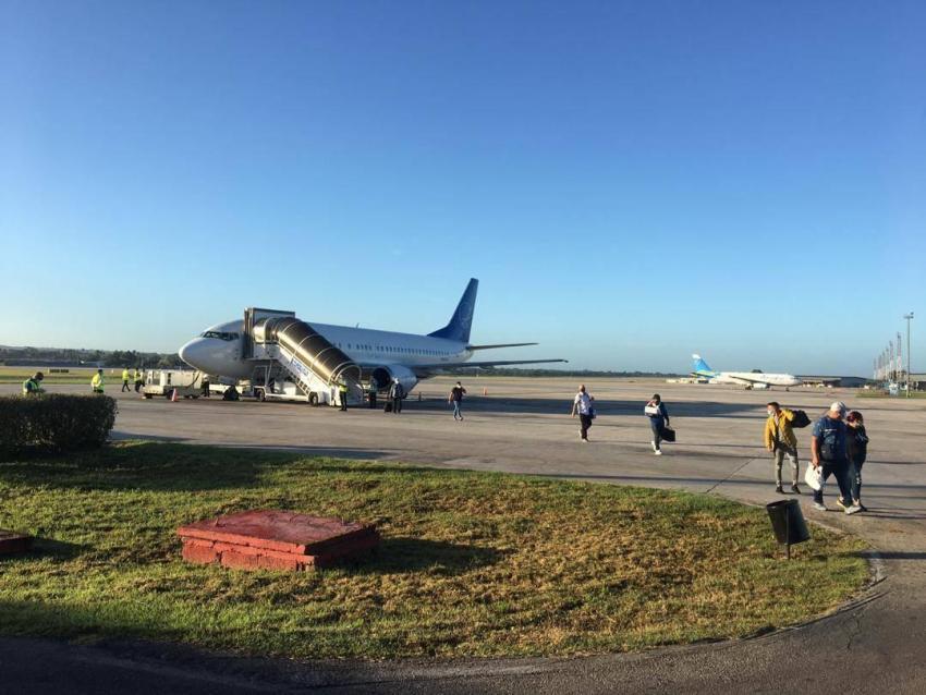 Llega procedente de Miami primer vuelo a La Habana, Cuba