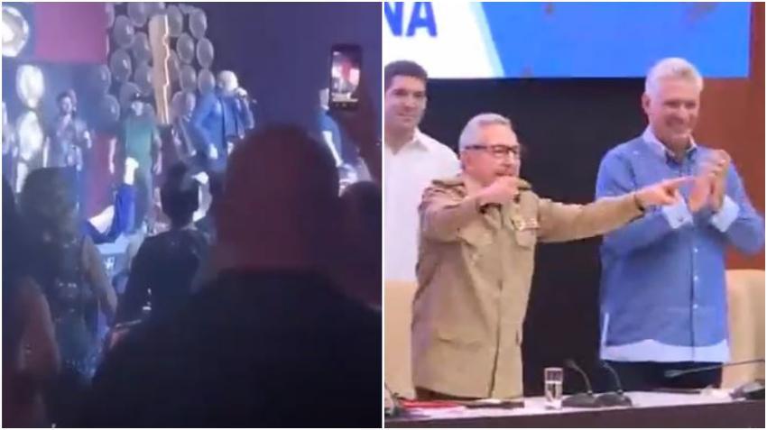 Alexander Delgado de Gente de Zona vuelve a gritar abajo la dictadura durante un concierto en Miami
