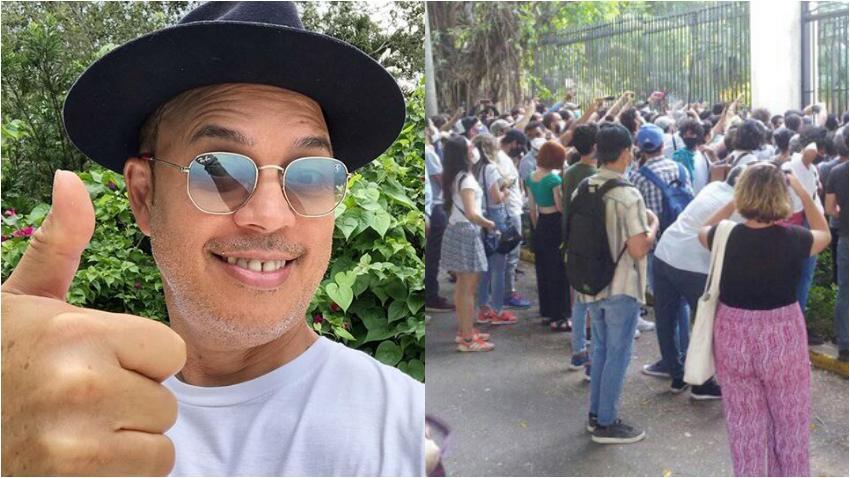 """Alexis Valdés dice estar orgulloso de los jóvenes artistas afuera del Ministerio de Cultura: """"Con toda seguridad si viviera en Cuba yo estaría ahí también"""""""