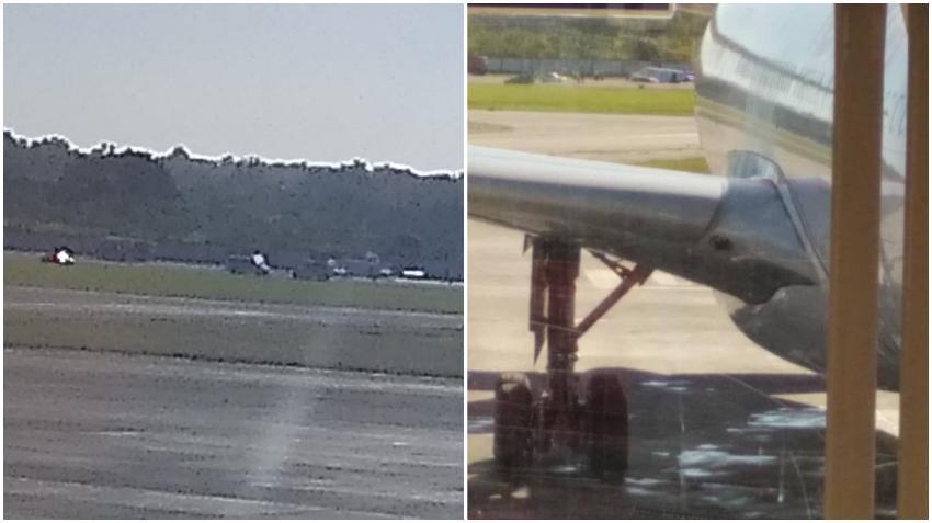 Avión realiza aterrizaje de emergencia en el Aeropuerto de La Habana por problemas con el tren de aterrizaje