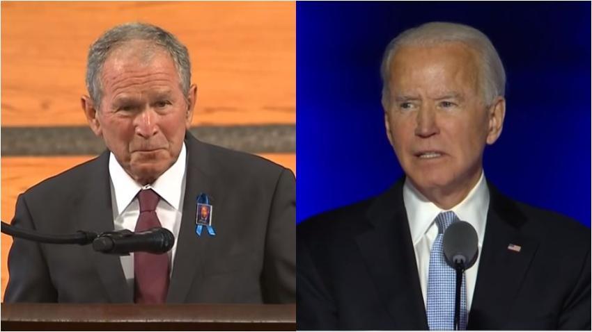 Ex presidente George Bush felicita a Biden y asegura que las elecciones fueron justas