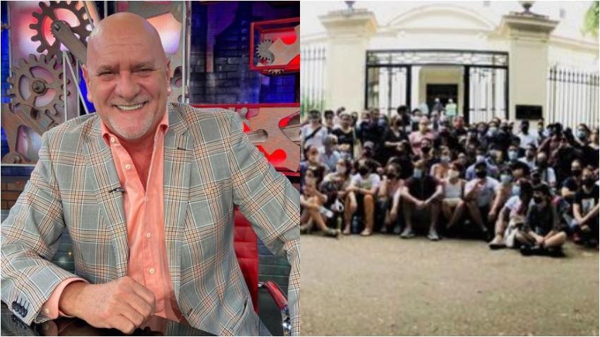 Carlos Otero expresa su apoyo a los jóvenes del Movimiento san Isidro y los artistas reunidos afuera del Ministerio de Cultura