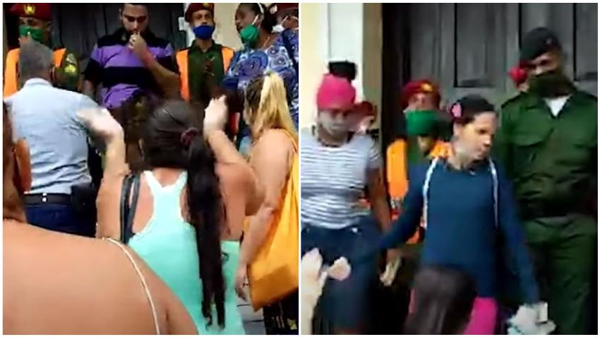 Grupo de cubanos se enfrentan a los boina rojas en Cuba