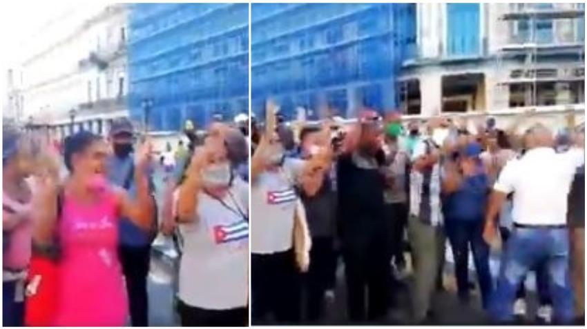 Gobierno de Cuba reprime a cubanos opositores en el Parque Central de la Habana