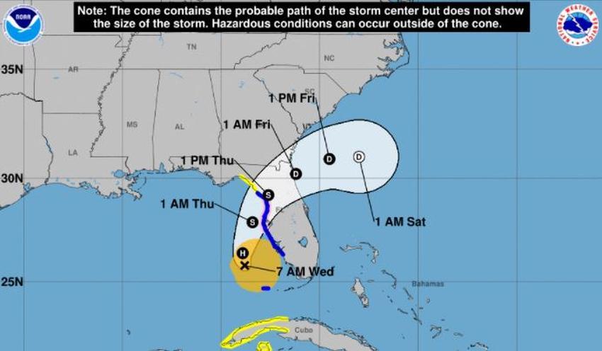 Eta recupera fuerza de huracán mientras se prepara para volver a golpear Florida