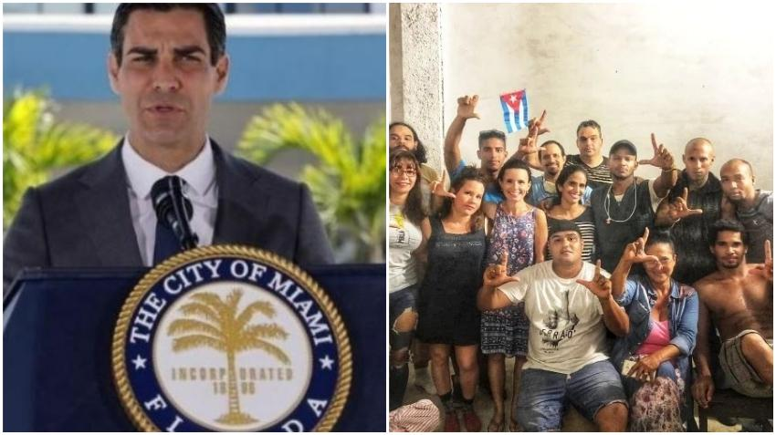 Alcalde de Miami Francis Suárez expresa su apoyo al Movimiento San Isidro en Cuba
