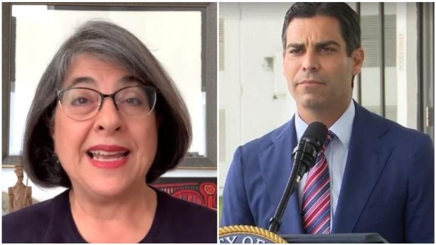 Alcaldesa de Miami-Dade Daniella Levine pide al alcalde de Miami Francis Suárez hacer cumplir el toque de queda
