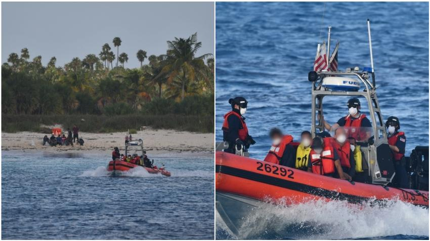 Guardia Costera de Estados Unidos intercepta a 22 balseros cubanos cerca de Bahamas