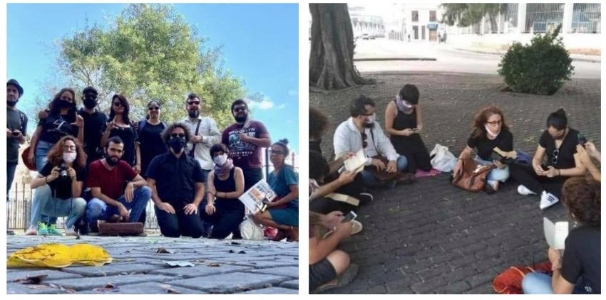 Jóvenes intelectuales en Cuba realizan vigilias y lecturas de poesía en apoyo al Movimiento San Isidro