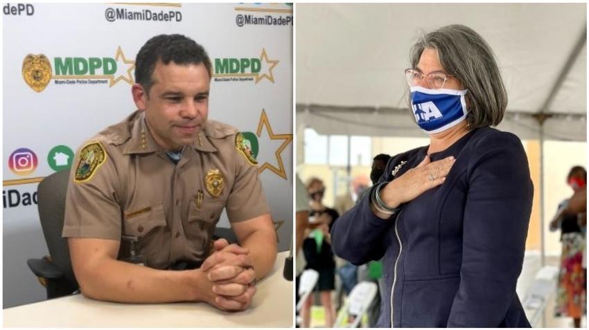 Jefe de la policía de Miami-Dade se reúne con la alcaldesa electa Daniella Levine Cava para discutir la seguridad en el condado
